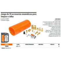 Juego De 15 Accesorios Neumáticos Para Limpiar E Inflar, Par