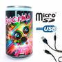 Bocina Lata Reproductor Lector Usb/microsd/radio/fm/auxiliar