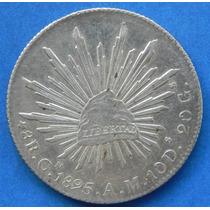 Moneda México 8 Reales Culiacan 1895 Am Excelente