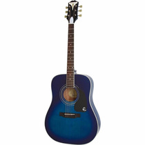 Guitarra Epiphone Pro Plus 1 Acustica Azul Blakhelmet Sp