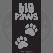 Perro Mat - Pet Rebellion Negro Y Gris Grande Paws Pet No