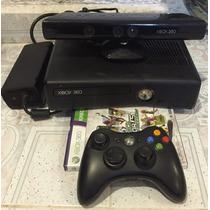 X-box 360 Slim 4gb Con Kinect-un Control-un Juego