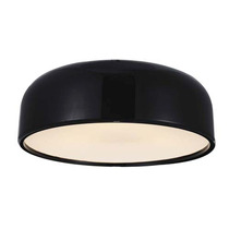 Luminario Decorativo Acrilico Sobreponer Negro 40w Illux