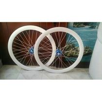 Rines Armados R700 Pared 50mm Bicicleta Fixie C/ Llantas