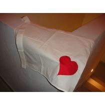 Mandiles De Manta (tipo Cintura) Con Corazón Rojo