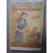 Recetario Del Aceite Conquistador # 14 Clavel Mexico 1950s