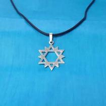 Dije Estrella De David 12 Picos En Plata Fina Ley.925 D123