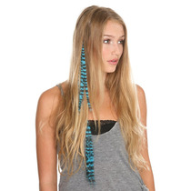 Hot Topic Extensiones De Cabello Turquoise Zebra Clip-in Syn