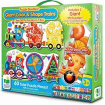 Rompecabezas Infantil Set Doble Trenes Color & Shape 60 Pz