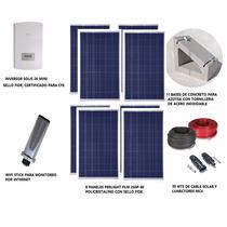 Kit Panel Solar Para Interconexión A Red Cfe De 2 Kwp
