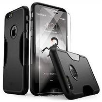 Caso Del Iphone 6, 6s Kit Protección Negro * Bono De Templad