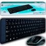 Kit Teclado Y Mouse Inalámbrico Wireless Logitech Mk220