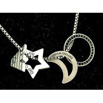 Cadena Collar Emporio Armani Ea De Plata Con 4 Dijes