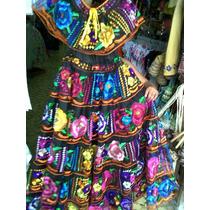 Vestido De Chiapas (chiapaneca Ruedo Normal Y Doble Ruedo)