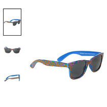 Hot Topic Lentes Multicolor Squares Blue Pop Retro Sunglasse