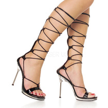Zapatillas C/ Correas Corset Fetish Sexy Bailarina Chic-60