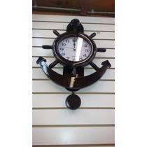 Reloj De Pared Ancla Madera Con Péndulo