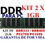 Memoria Ddr 2gb Pc2700 333 / Pc3200 400 (kit 2 X 1gb)