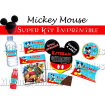 Mickey Mouse Super Kit Imprimible, Imprime Tu Misma!