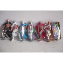 Paquete De 6 Luchadores Plastico - Muñeco Lucha Libre