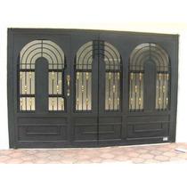 Puerta De Herreria Rustica Fina Modelo California