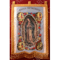 Estandarte Virgen De Guadalupe Fotograbados Pequeños