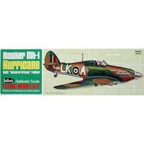 Avion En Madera Balsa Scale Guillows Hawker Hurricane Ndd