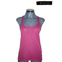 Camiseta Rosa Con Rayas Doradas Pull & Bear
