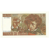 Billete Francia 10 Francos (1976) Hector Berlioz