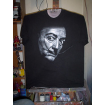Playera Salvador Dali, Retrato, Arte Surrealismo, Pintor