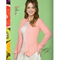 Saco-blazer- Rosa Ala Moda Elegante-casual Fashion Terra