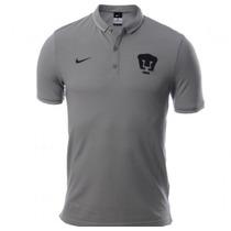 Nike Pumas Unam Talla Mediana Playera Gris Tipo Polo Nueva