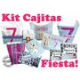 Kit Cajas Recuerdos Fiesta Mesa Dulces Cubo Cajita Pop 1
