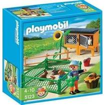 Playmobil 5123 Granja(conejos Con Corral)dvd Obsequio! Bfn