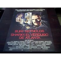 Poster Original Sharkys Machine El Verdugo De Burt Reynolds