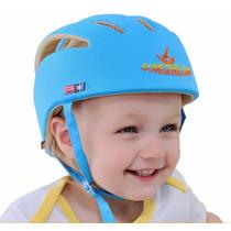 Casco Protector De Seguridad Para Bebes Y Niños Azul B5001