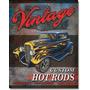 Poster Metalico Litografia Lamina Decorativa Hot Rod Vintage