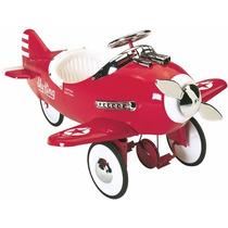 Avion Carrito De Pedales Metal Tipo Antiguo Vintage Montable