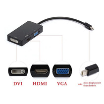 Cable Adaptador 3 In 1 Mini Display Port Thunderbolt To Dvi