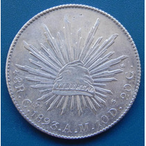 Moneda 8 Reales Culiacan 1893 Am Condicion