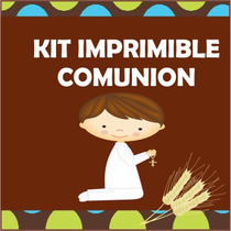 Kit Para Imprmir Comunion Bautizo Baby Shower