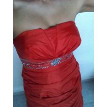 Vestido Strapless Rojo ( Xv Años, Graduacion)