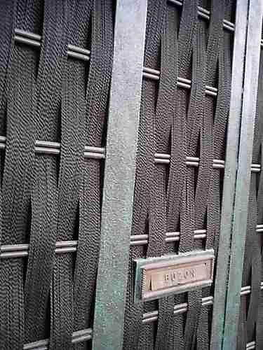 Puerta tejida de herreria rustica fina 4462 wk5kl for Puertas de herreria para interiores