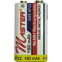 Bateria Pila Cuadrada Niquel Metal 9v Recargable 180 Mah Ot8