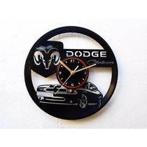 Reloj De Pared Disco Vinilo Acetato Vinil Dodge Challenger