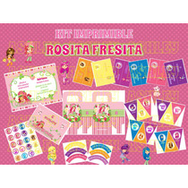 Kit Imprimible De Rosita Fresita
