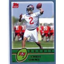 2003 Topps #325 Chris Simms Rc Bucaneros De Tampa Bay Sv9