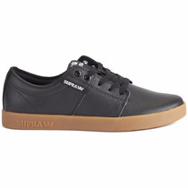 Tenis Supra Stacks Ii, S45157, Color Negro, Piel