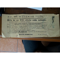 Billete Boleto Lotería Rifa 1929 México Puebla