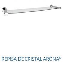 Accesorio P/ Baño Repisa De Cristal Urrea Ar.10.9 A. Inoxid